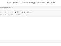 Upload Gambar di CKEditor Dengan PHP