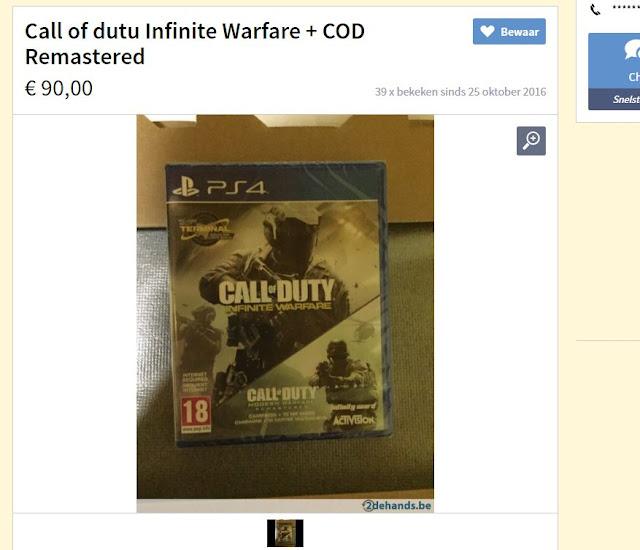 رصد أول نسخة للعبة Call Of Duty Infinite Warfare بالأسواق
