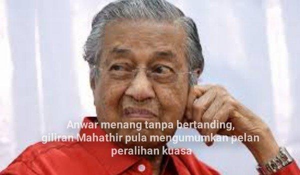 Anwar menang tanpa bertanding