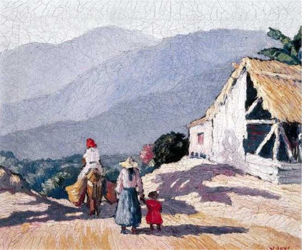 Paisaje, marchanta y otras traseúnta, Yoryi Morel, 1930