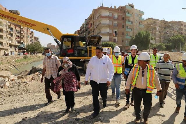 تنفيذا لتوجيهات محافظ السويس متابعة مشروعات تحسين البيئة والتنسيق الحضاري والصرف الصحي بأحياء المحافظة