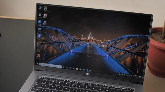 A 14-inch 1080p 60Hz display of Mi Notebook 14 Horizon Edition.