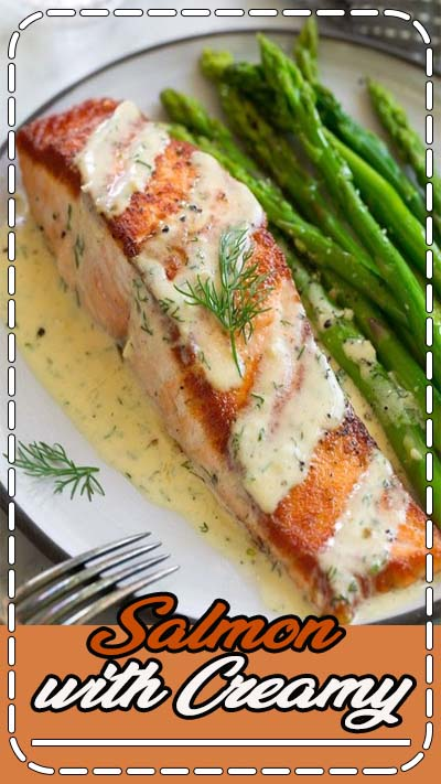 Salmon with Creamy Garlic Dijon Sauce - This is such a flavorful, elegant salmon recipe that anyone can pull of. It's comes together so quickly yet it's sure to impress anyone. Pan seared salmon is perfectly delicious on it's own but when you add a bright sauce like this it takes it to a whole new level! #salmon #recipe #pansearedsalmon #easydinner via @cookingclassy