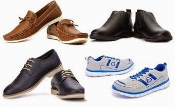 Flat 50% Off on Men's Footwear (Duke & Vulcan Knight) starts Rs.399@ Flipkart