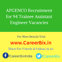 APGENCO Recruitment for 94 Trainee Assistant Engineer Vacancies
