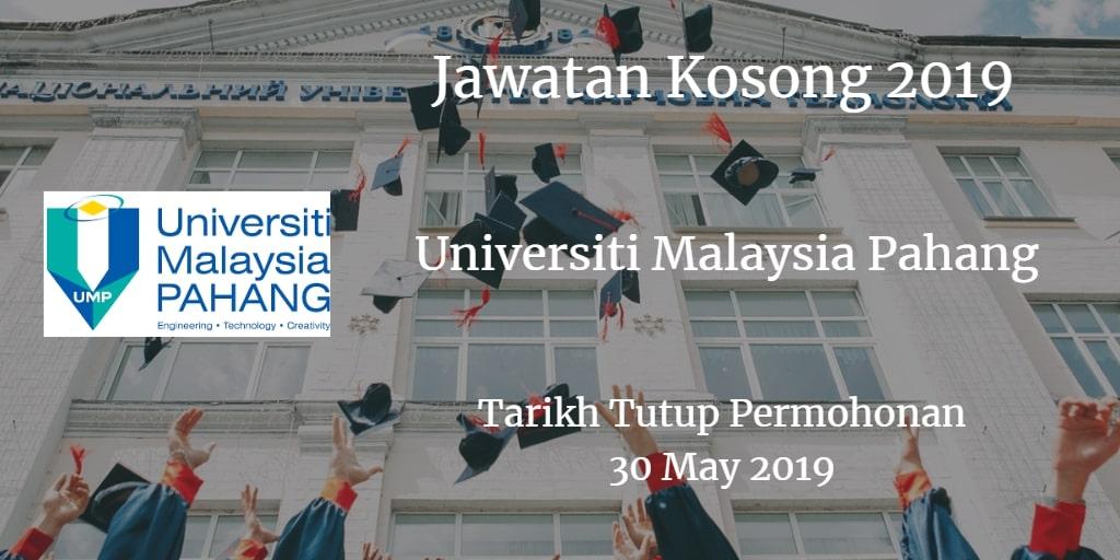 Jawatan Kosong UMP 30 May 2019