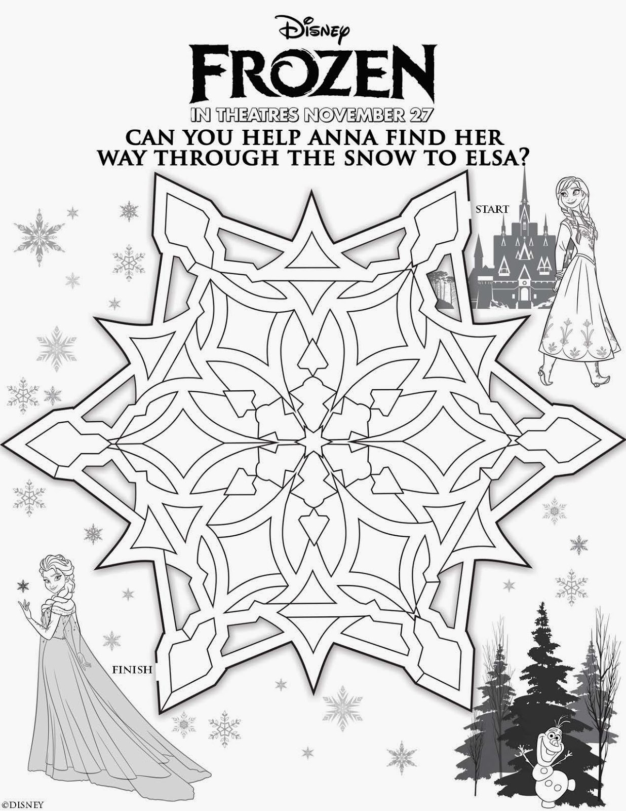 Libro de Actividades de Frozen para Imprimir Gratis