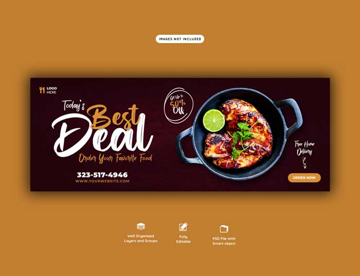 Food Sales Menu Web PSD Template V-2