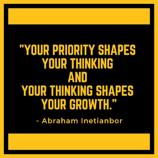 Priority shapes THINKING and then Growth