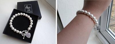 swarovski pearl engraved bracelet, bracelet, pearl bracelet