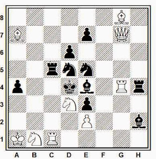Problema de mate en 2 compuesto por O. M. Olsen (British Chess Federation, 1934)