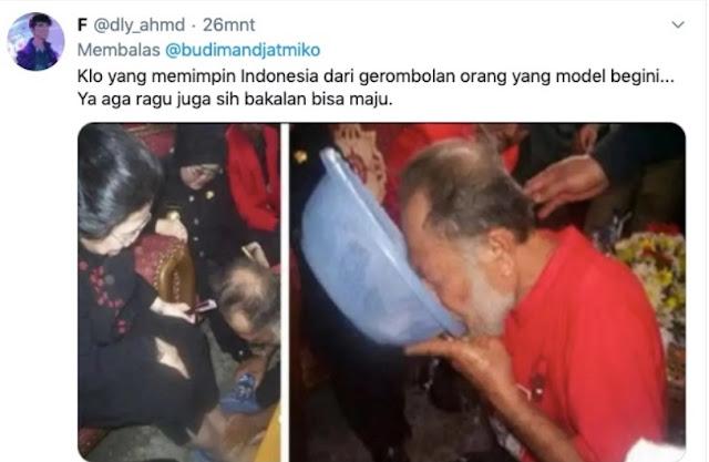 Cuitan Budiman Sudjatmiko Soal Kebodohan, Dibalas Kader Partai Minum Air Bekas Cuci Kaki Megawati