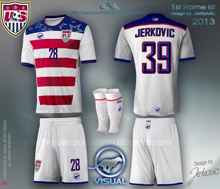 138afc2bbd3 new american soccer jersey 2014 world cup football kit visual design