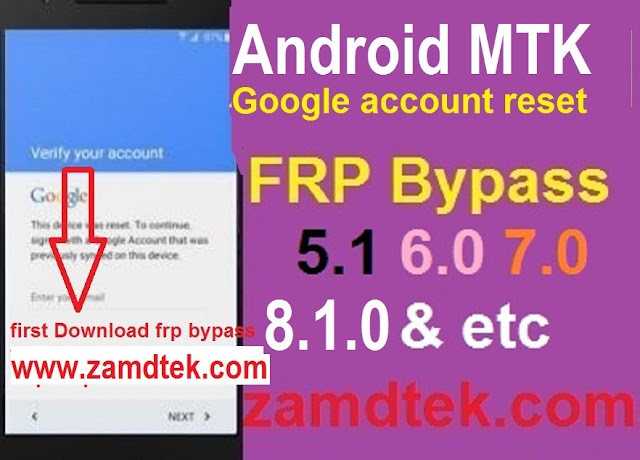 How to reset google account or bypass FRP on Android MTK 7.0 and above with FRP files. 100% FRP solution