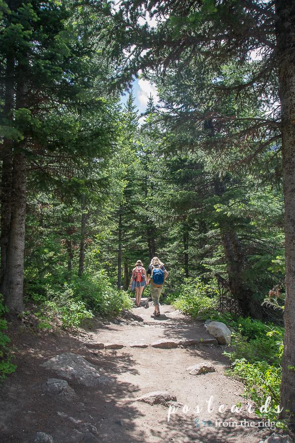 young ladies hiking at Grand Tetons National Park