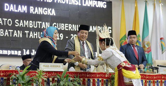 DPRD Lampung Gelar Paripurna Pidato Sambutan Gubernur Lampung 2019-2024