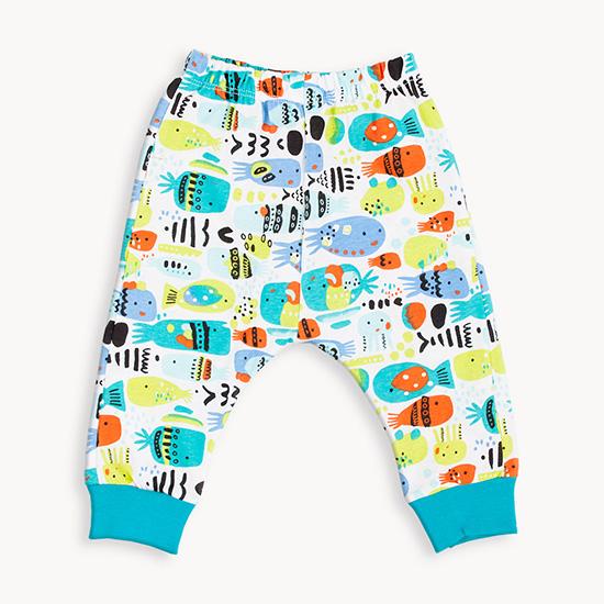 Pantalon estampado de bebe verano 2018.