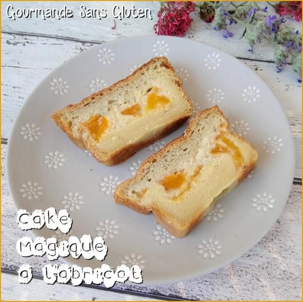 Cake magique à l'abricot sans gluten