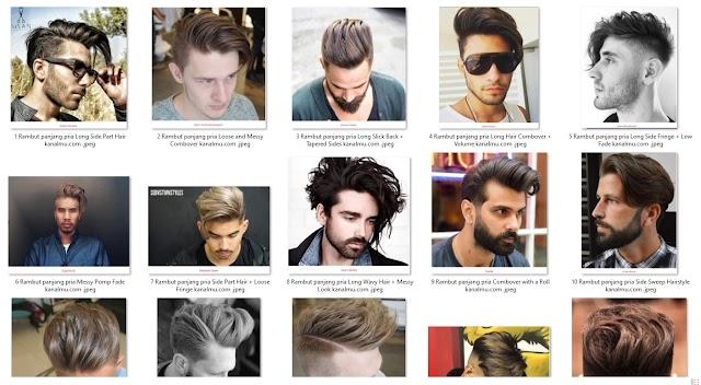 30+ Model Rambut Panjang Pria Keren Lurus keriting lengkap ...