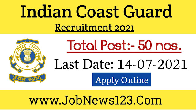 Indian Coast Guard Recruitment 2021: