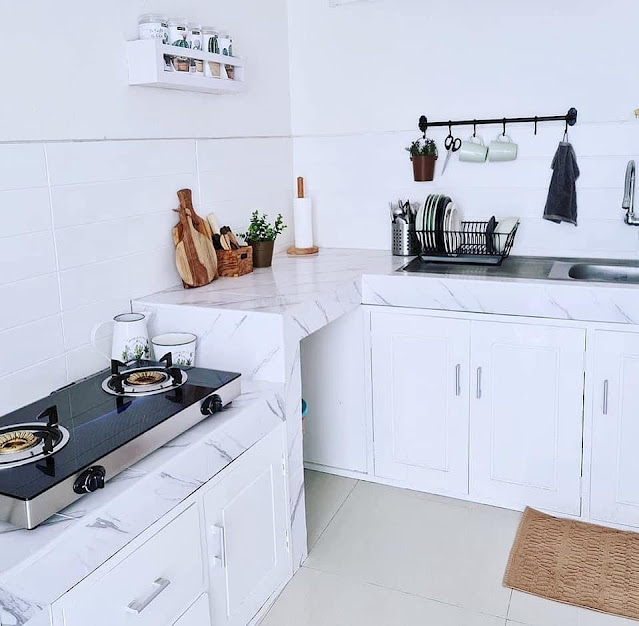 Warna Cat Putih Pada Dapur Minimalis Sederhana