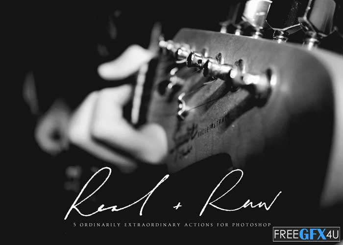 Real + Raw Photoshop Actions