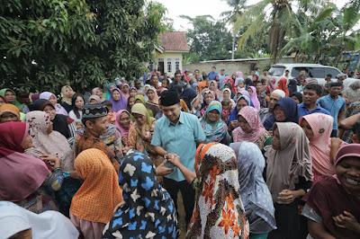 M.Ridho Ficardo Bersilaturahmi Dengan Masyarakat Desa Telungitik, Lampung Tengah