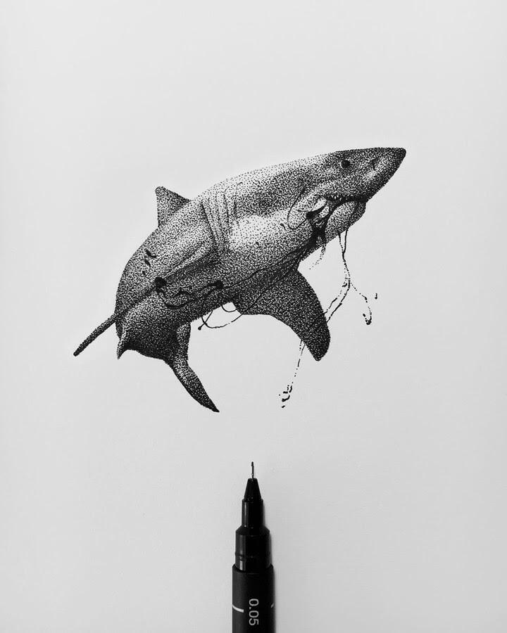 07-Great-White-Shark-Rostislaw-Tsarenko-www-designstack-co