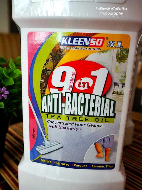 Kleenso 9 in 1 Anti-Bacterial Tea Tree Oil Floor Cleaner 900gm RM 14.90
