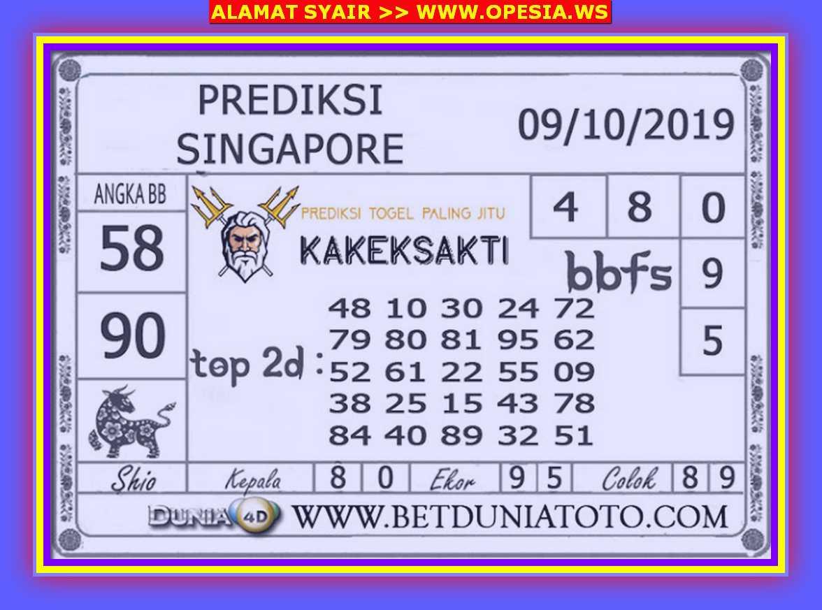 Kode syair Singapore Rabu 9 Oktober 2019 62