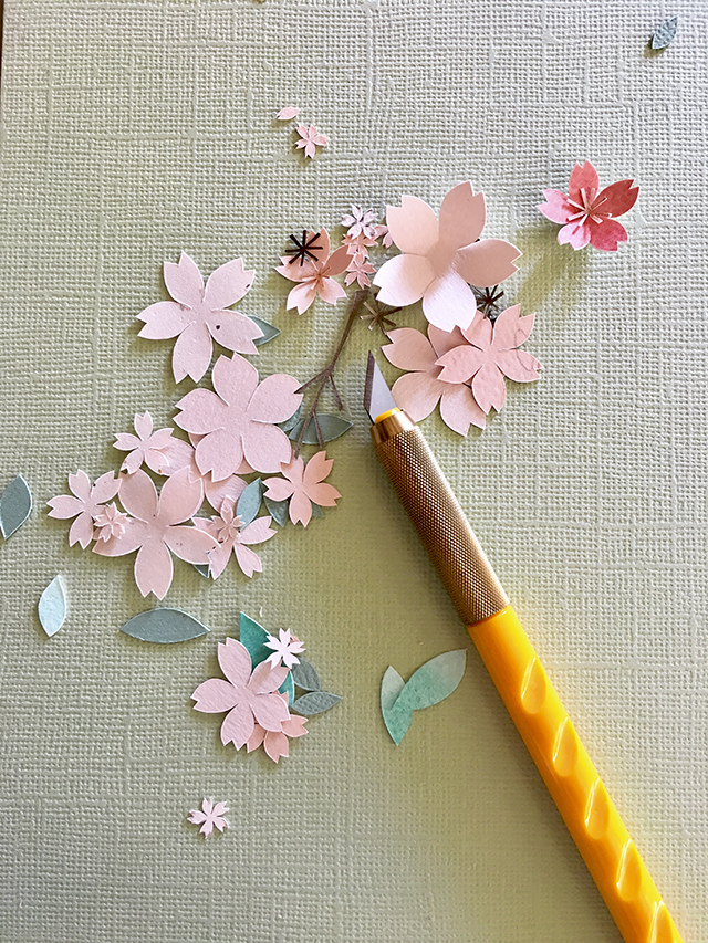 cherry blossom papercut tutorial olfa craft knife