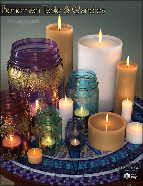 Bohemian Table and Candles