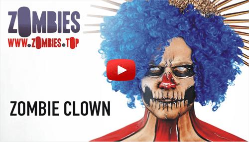 Maquillaje Zombie Clown