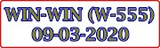 WIN-WIN W-555 Kerala Lottery Result Today 09-03-2020