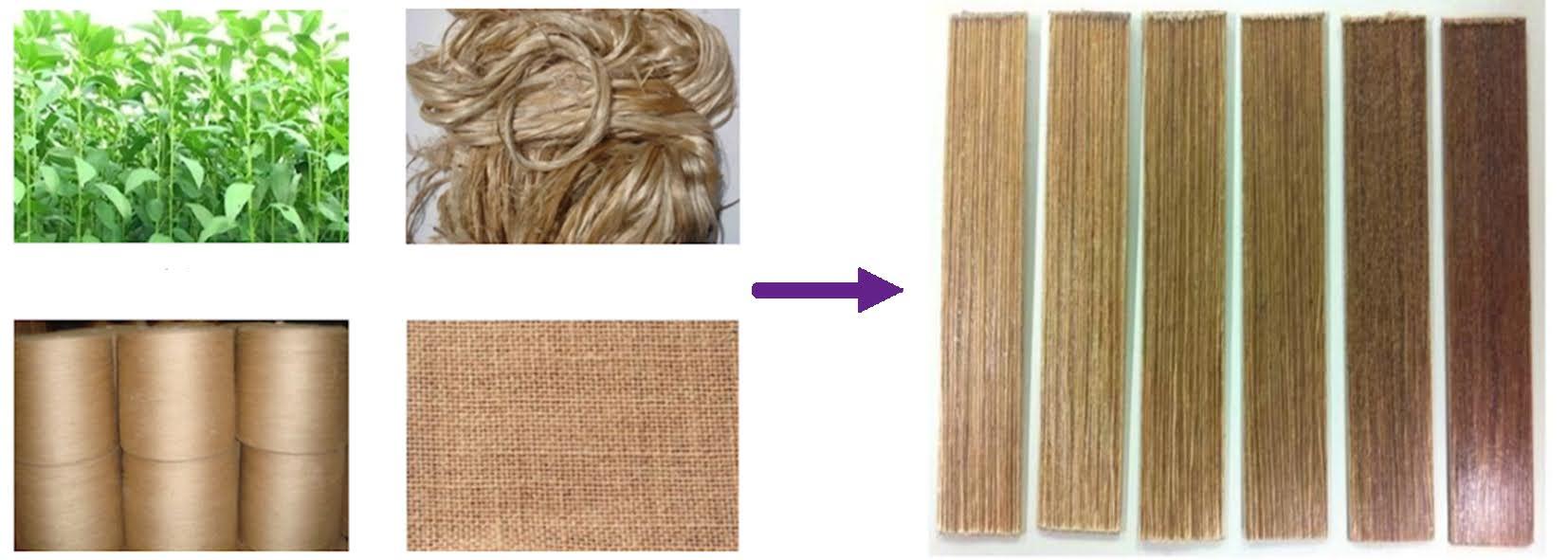 Jute fibre biocomposite