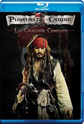 COMBO Pirates Of The Caribbean Colección DVD HD Dual Latino 5.1 + Sub 2xDVD9