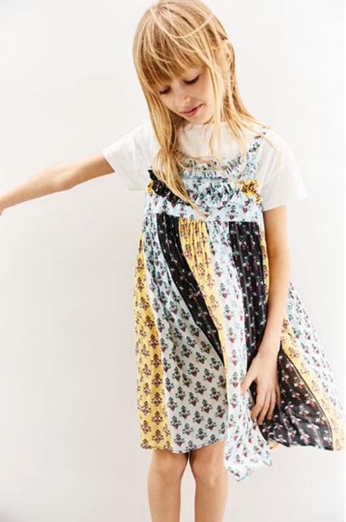 Vestidos para niñas moda primavera verano 2018.