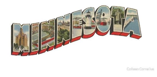 Minnesota Vintage Big Letter
