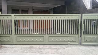 Contoh Pagar Tempa Sederhana yang cocok untuk rumah semi klasik