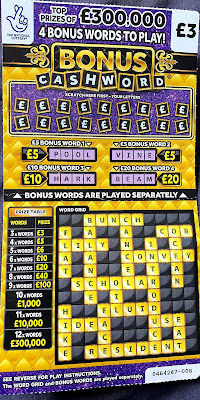 £300,000 Bonus Cash Word Scratchcard
