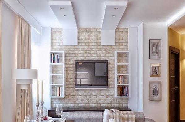 Salas con pared de ladrillos salas con estilo - Muebles con ladrillos ...