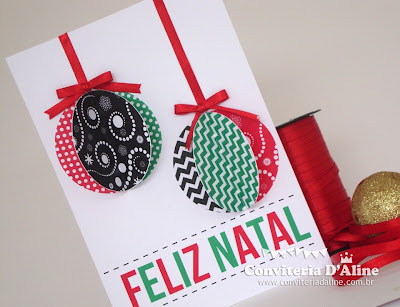 Faça você mesmo cartão de natal artesanal