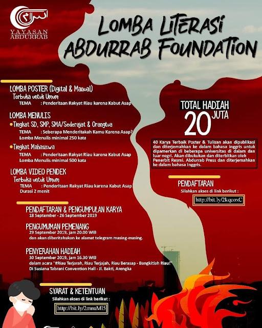 Lomba Literasi Abdurrab Foundation Total Hadiah 20 Juta