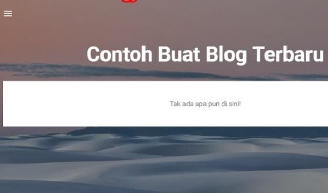 Contoh tampilan blog baru