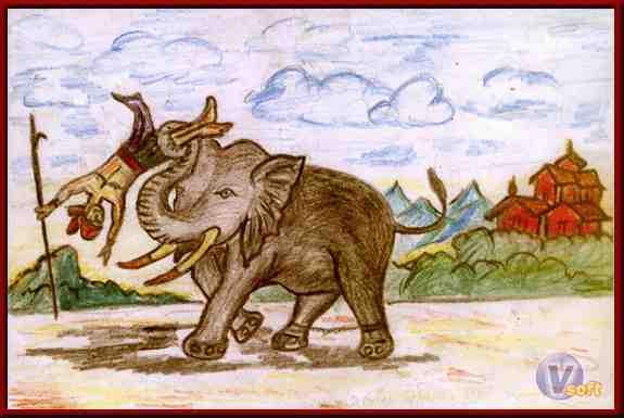 The Story of Mahilaimukha Elephant ~  महिलामुख हाथी की कथा