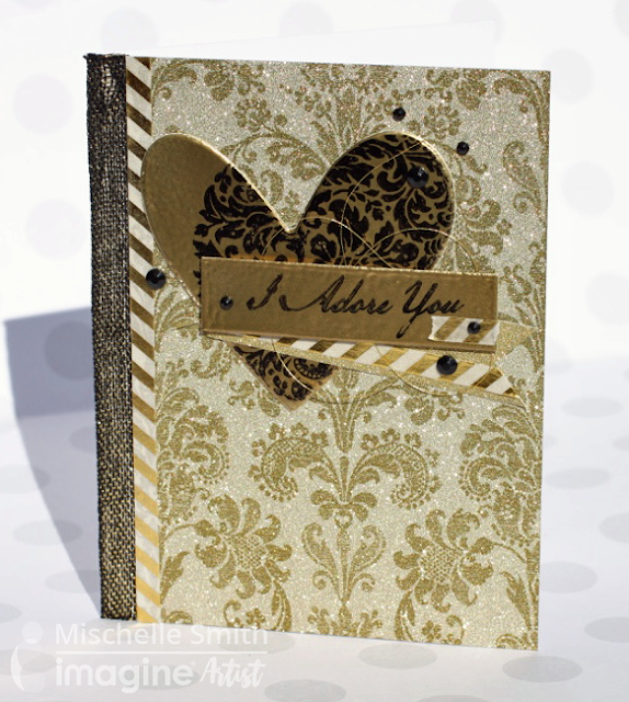 237 Heart Of Gold Elegant Embossed Card For Imagine