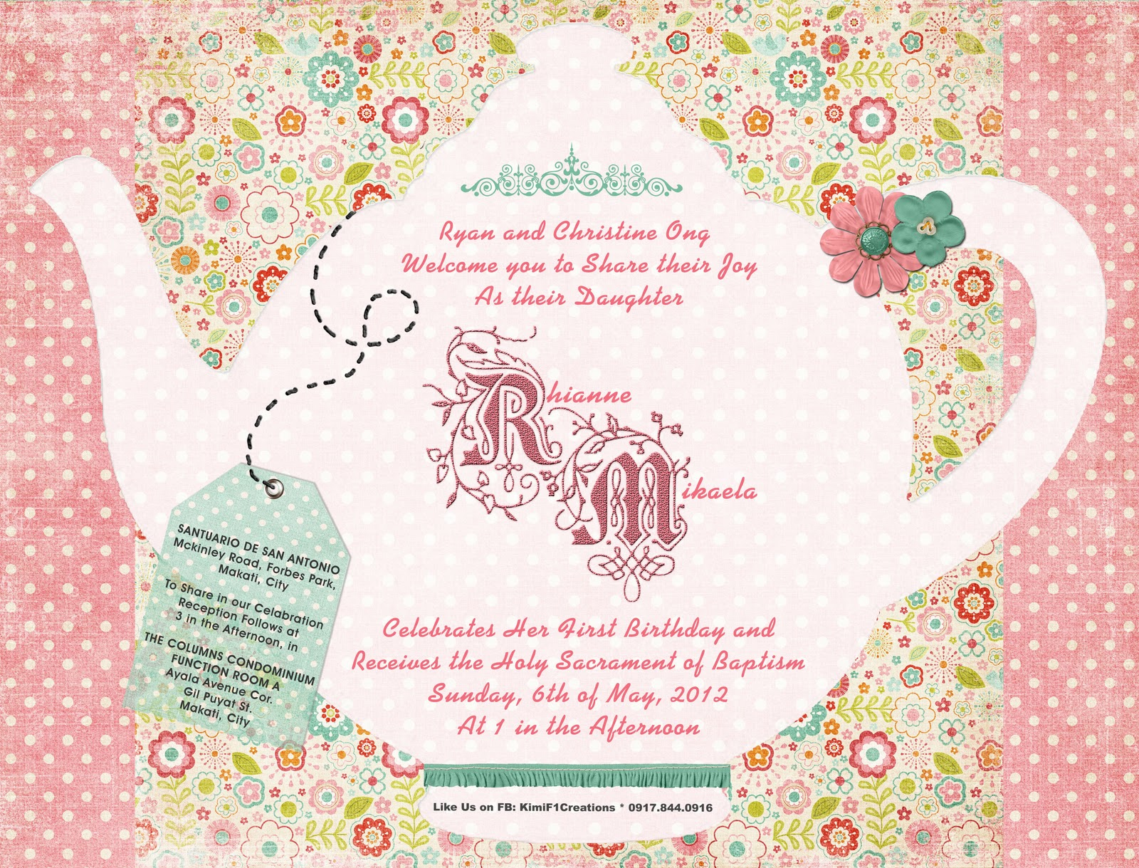 Tea Party Kids Invitation Template Free einmaleinshaus – Birthday Party Invitation Template Word