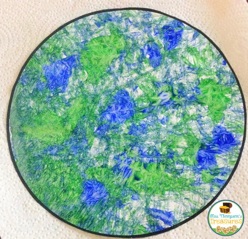 Marble Painting Earth Mrs Thompson S Treasures