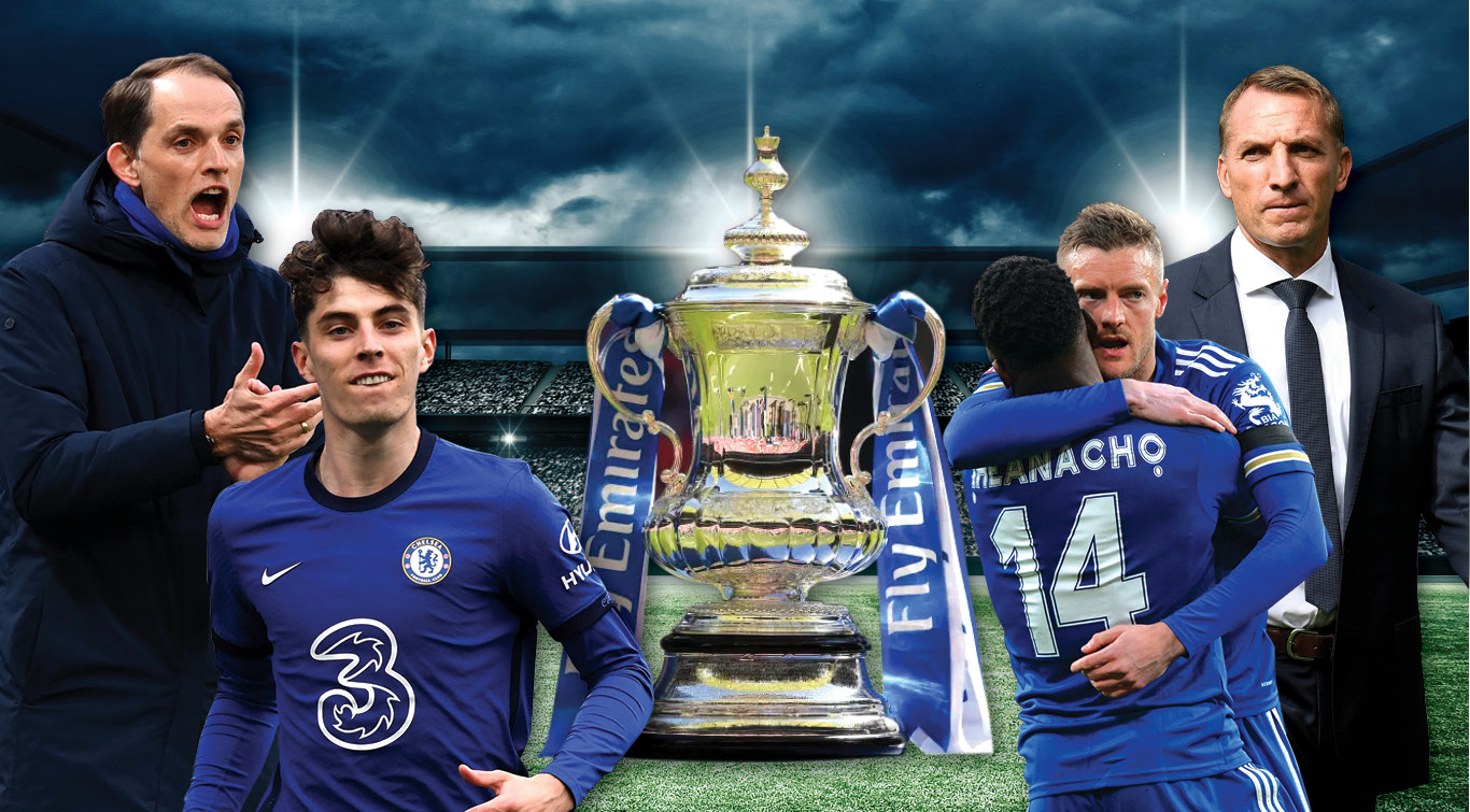 Chelsea and Leicester meet at Wembley with the prestigious FA Cup trophy at stake