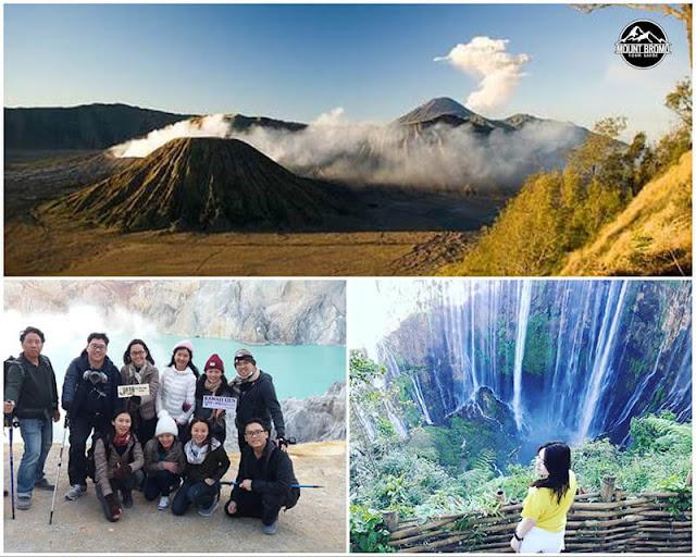 Mount Bromo, Ijen Crater, Tumpak Sewu Waterfall tour 5 Days 4 Nights